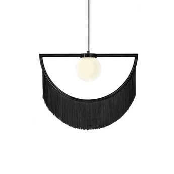 Suspension wink noir led l60cm h48cm houtique normal