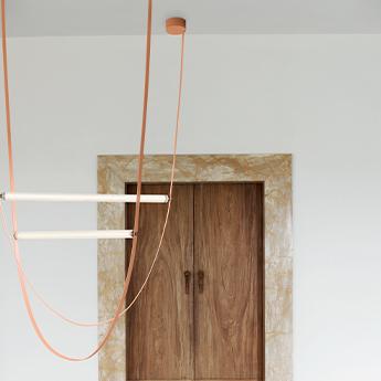 Suspension wireline rose led 2700k 2793lm l177 313cm h290 890cm flos normal