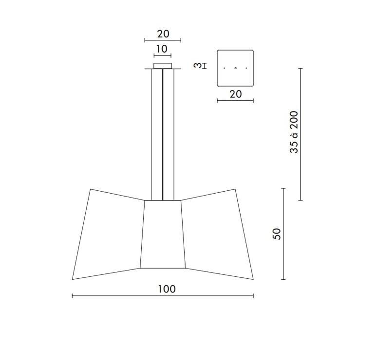 Xxl grand couture emmanuelle legavre designheure sxxlctbn luminaire lighting design signed 13382 product