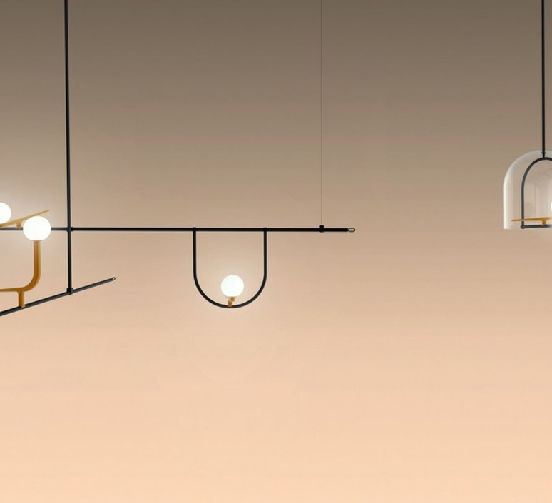 Yanzi 1 neri et hu suspension pendant light  artemide 1104010a  design signed 43097 product