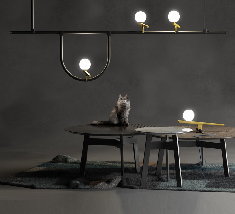 Yanzi 1 neri et hu suspension pendant light  artemide 1104010a  design signed 55193 product