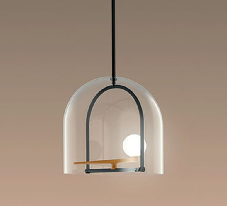 Yanzi neri et hu suspension pendant light  artemide 1103010a  design signed 43093 product