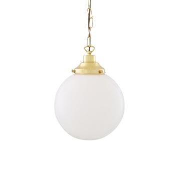 Suspension yerevan laiton verre opalin o25cm h32cm mullan lighting normal