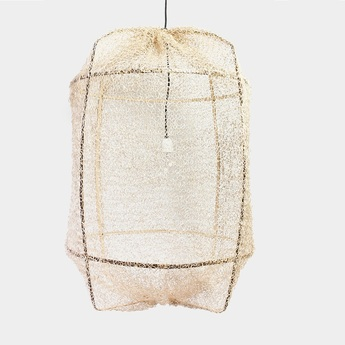 Suspension z1 black sisal net tea dye beige o67cm h100cm ay illuminate normal