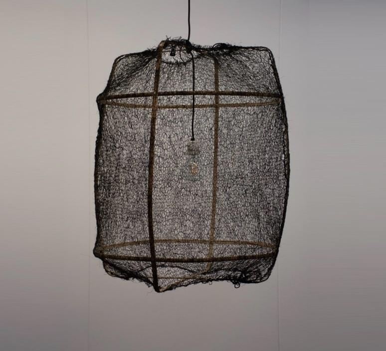 Z1 sisal net black ay lin heinen et nelson sepulveda suspension pendant light  ay illuminate 901 100 01snb  design signed nedgis 119440 product
