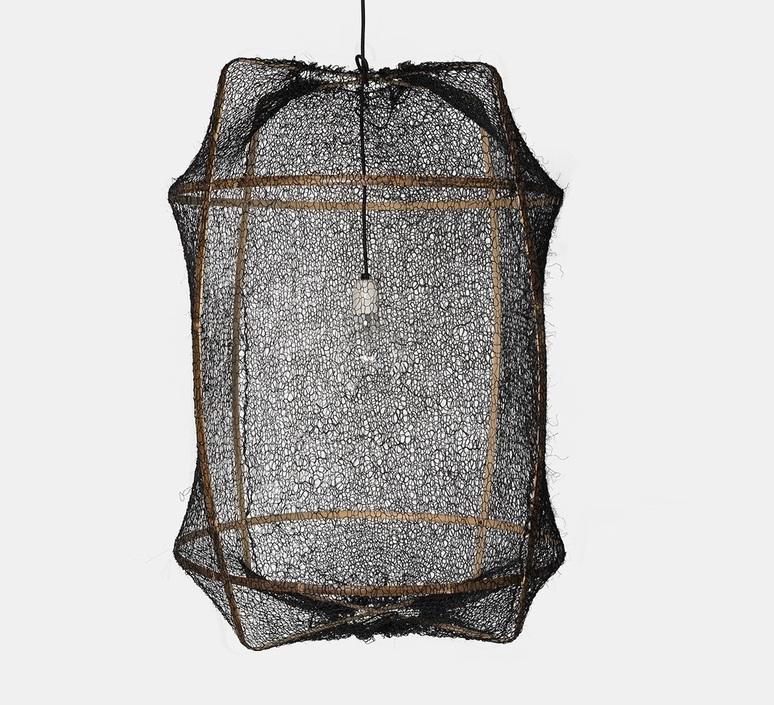 Z1 sisal net black ay lin heinen et nelson sepulveda suspension pendant light  ay illuminate 901 100 01snb  design signed nedgis 119441 product