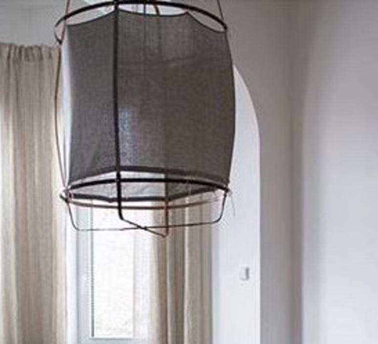 Z2 blond re used coton  suspension pendant light  ay illuminate 902 101 01 ruc p  design signed nedgis 66501 product