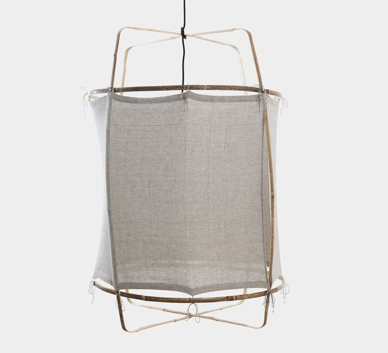 Z2 blond re used coton  suspension pendant light  ay illuminate 902 101 01 ruc p  design signed nedgis 66503 product