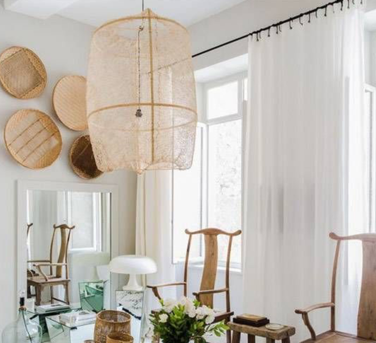 Z2 blond sisal tea ay lin heinen et nelson sepulveda suspension pendant light  ay illuminate 902 101 01 snt p  design signed 37164 product