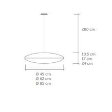 Zen celine wright celine wright zen suspension pm luminaire lighting design signed 18868 thumb