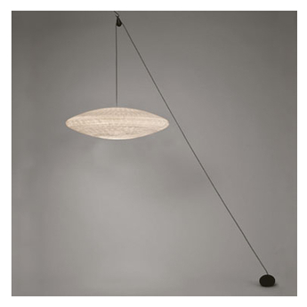 Suspension zen poulie suspension blanc l62cm h17cm celine wright normal