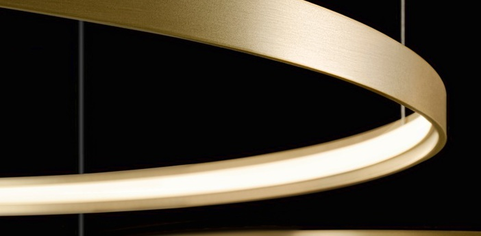 Suspension zero round m03301 blanc led 2700k 4974lm o97cm h5cm panzeri normal