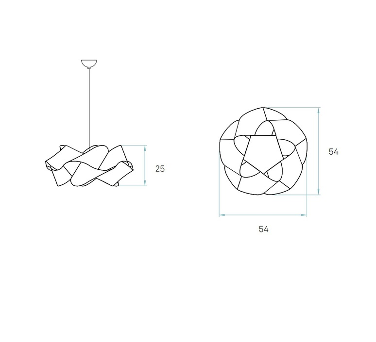 Suspensions swirl sp 20 blanc ivoire o54cm lzf 24546 product