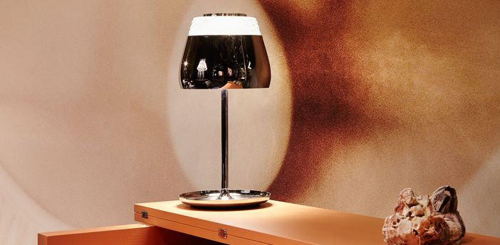 Table lamp valentine table chrome led o21cm h45cm moooi normal
