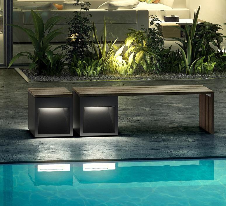Lap bench david abad b lux lap bench 45b led grey luminaire lighting design signed 18956 product