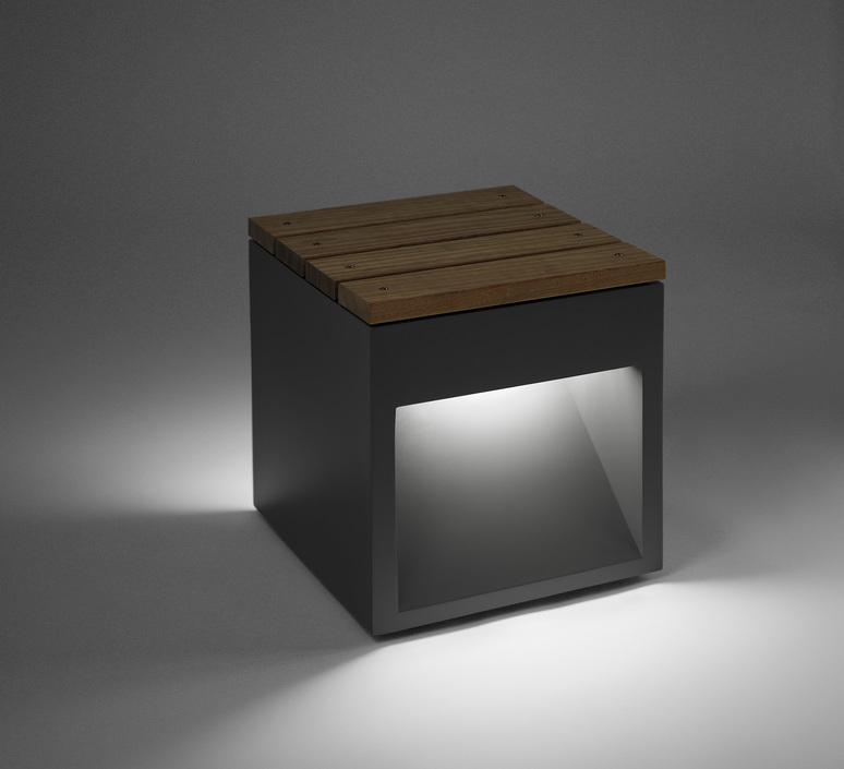 Lap bench david abad b lux lap bench 45b led grey luminaire lighting design signed 18958 product