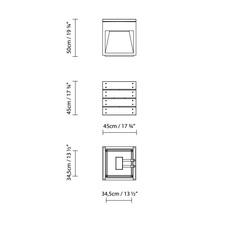 Lap bench david abad b lux lap bench 45b led grey luminaire lighting design signed 18959 thumb