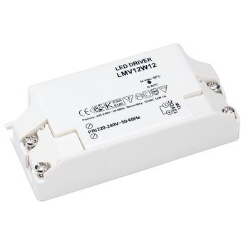 Transformateur driver alimentation led netzteil 12v 12w blanc slv normal