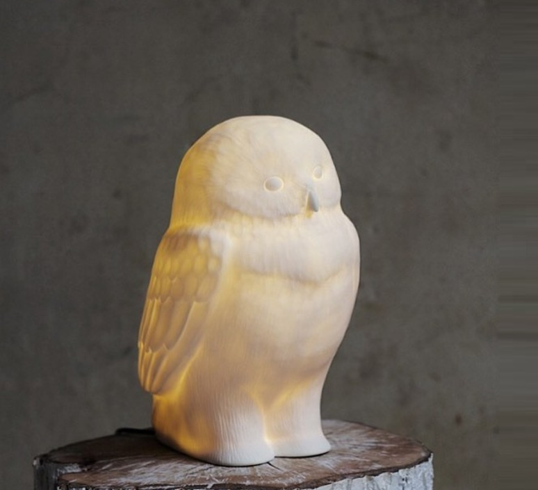 Akira chouette yeux bleus eva newton goodnight light akira the owl lamp yeux bleus luminaire lighting design signed 21623 product