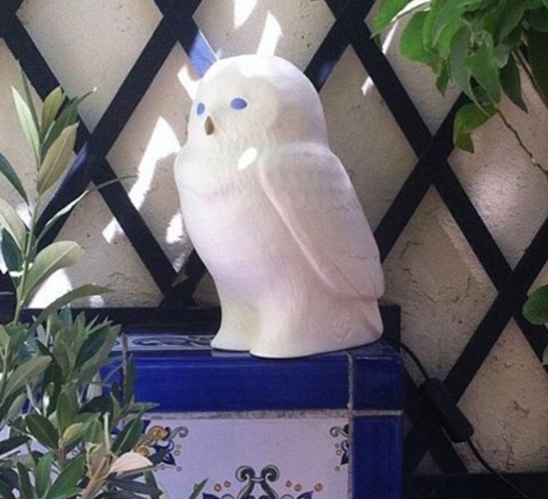 Akira chouette yeux bleus eva newton goodnight light akira the owl lamp yeux bleus luminaire lighting design signed 22830 product
