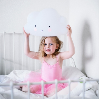 Veilleuse enfant grand nuage blanc h45cm a little lovely company normal