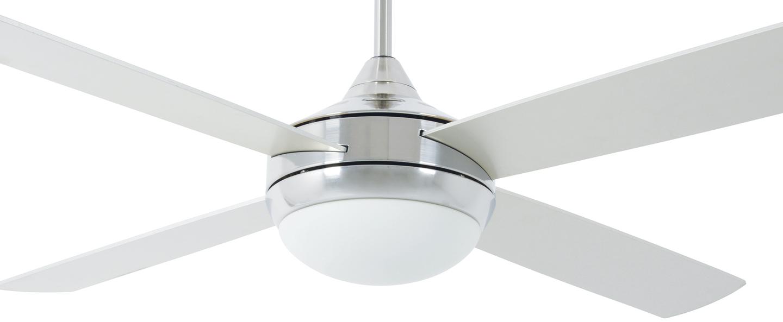 Ventilateur lumineux icaria aluminium o132cm h41 5cm faro normal