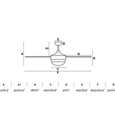 Icaria studio faro lab ventilateur lumineux ceiling fan light  faro 33701  design signed nedgis 113844 thumb