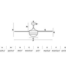 Icaria  studio faro lab ventilateur lumineux ceiling fan light  faro 33700  design signed nedgis 113785 thumb