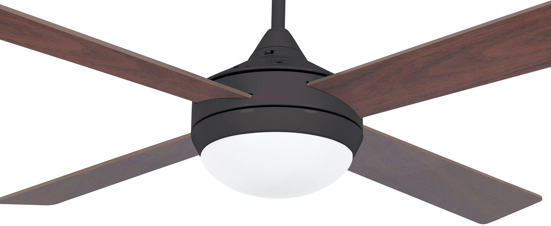 Ventilateur lumineux icaria marron o132cm h41 5cm faro normal