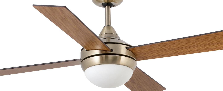 Ventilateur lumineux icaria vieil or o132cm h41 5cm faro normal