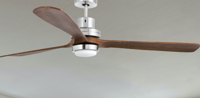 Ventilateur lumineux lantau g nickel mat led 3000k 500lm o168cm h41cm faro normal