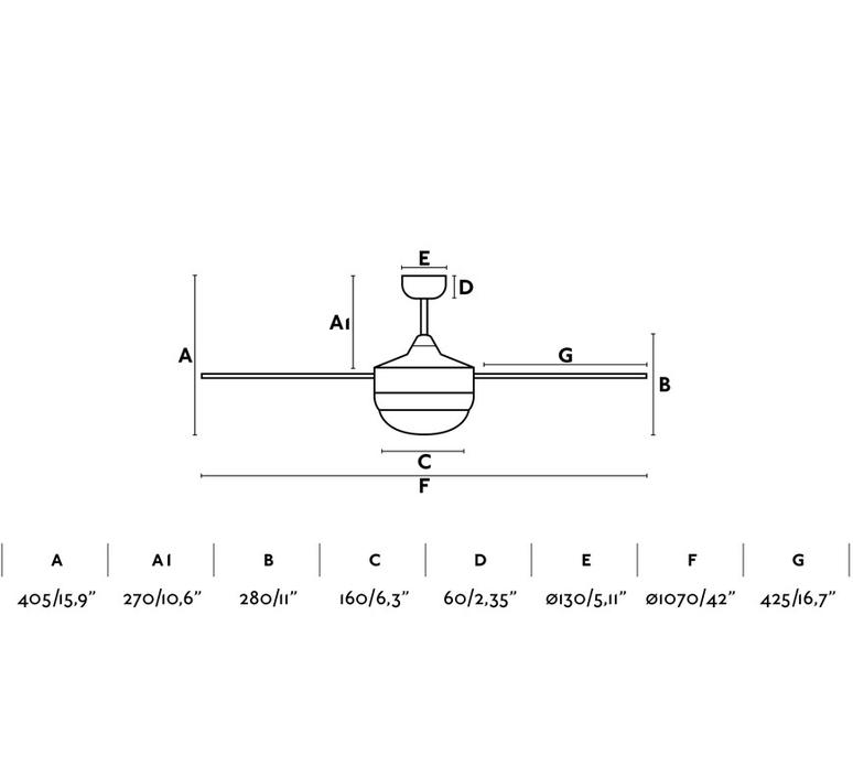 Mini icaria studio faro lab ventilateur lumineux ceiling fan light  faro 33698  design signed nedgis 113745 product