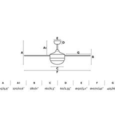 Mini icaria studio faro lab ventilateur lumineux ceiling fan light  faro 33698  design signed nedgis 113745 thumb