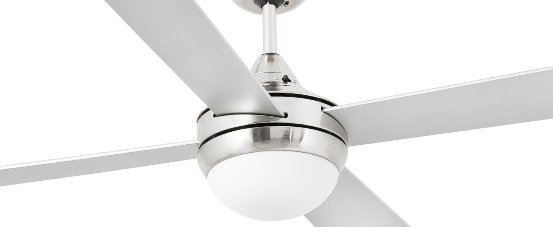 Ventilateur lumineux mini icaria nickel mat o107cm h40 5cm faro normal