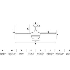 Mini icaria studio faro lab ventilateur lumineux ceiling fan light  faro 33699  design signed nedgis 113810 thumb