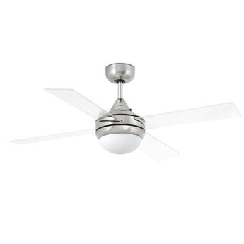 Ventilateur lumineux mini icaria transprent o107cm h40 5cm faro normal