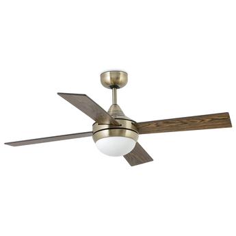 Ventilateur lumineux mini icaria vieil or o107cm h40 5cm faro normal