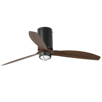 Ventilateur lumineux mini tube ete hiver dc motor noir bois mat o128cm h32 4cm faro normal