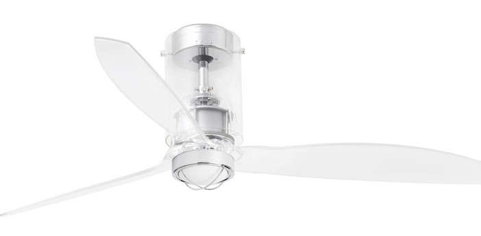 Ventilateur lumineux mini tube ete hiver dc motor transparent o128cm h32 4cm faro normal