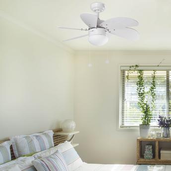 Ventilateur lumineux palao blanc o81cm h39cm faro normal