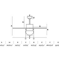 Palao studio faro lab ventilateur lumineux ceiling fan light  faro 33185  design signed nedgis 113961 thumb