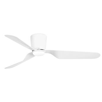 Ventilateur lumineux pemba ete hiver dc motor blanc led 3000k 800lm o132cm h21 5cm faro normal