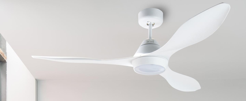Ventilateur lumineux polaris ete hiver dc motor blanc led 2700k 1500lm o132cm h27 5cm faro normal