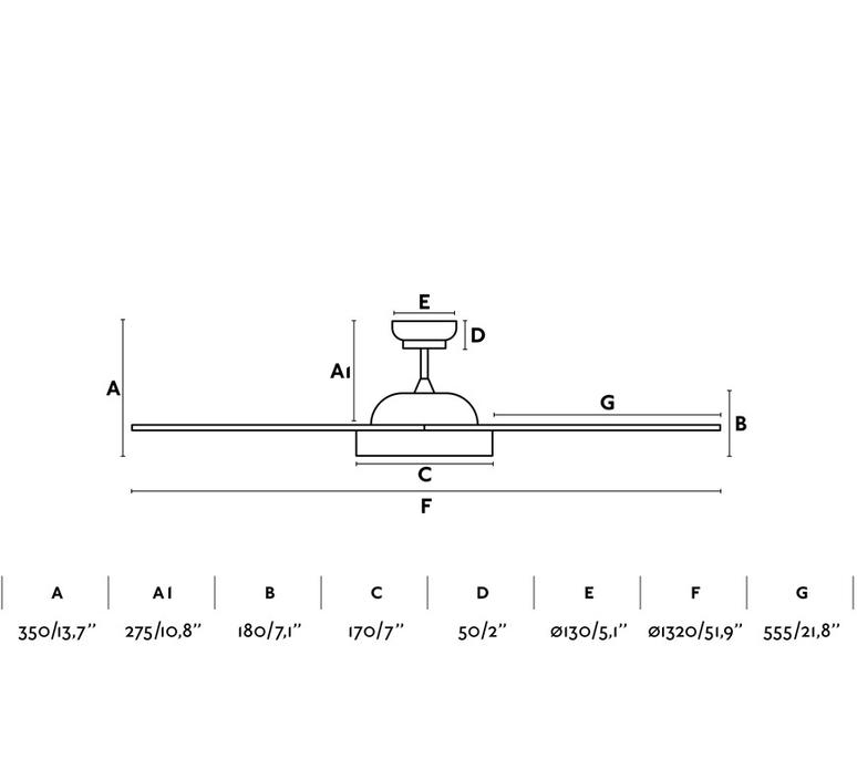 Polaris ete hiver dc motor studio faro lab ventilateur lumineux ceiling fan light  faro 33346  design signed nedgis 115034 product