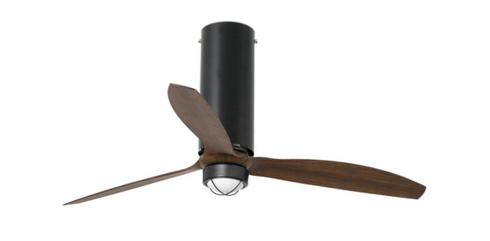 Ventilateur lumineux tube ete hiver dc motor blanc mat transparent o128cm h48 4cm faro normal