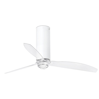 Ventilateur lumineux tube ete hiver dc motor noir mat o128cm h48 4cm faro normal