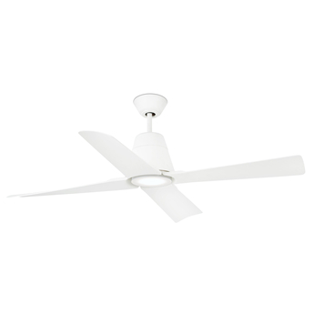 Ventilateur lumineux typhoon ete hiver dc motor blanc ip44 led 3000k 900lm o127cm h39cm faro normal