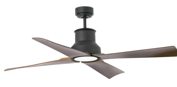 Ventilateur lumineux winche ete hiver dc motor marron ip44 led 3000k 800lm o127cm h39cm faro normal