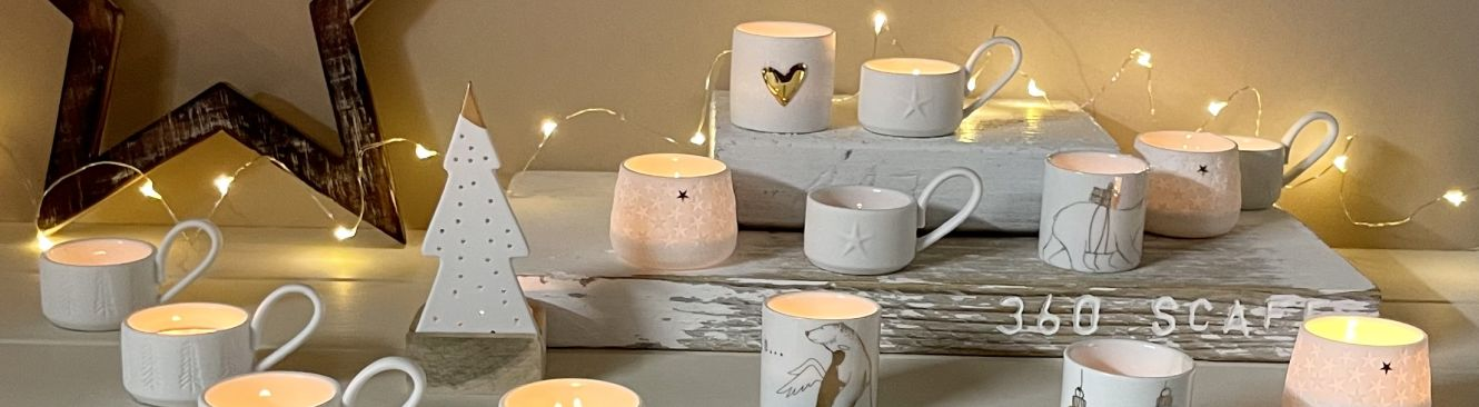 Porcelain Tealights and Ornaments