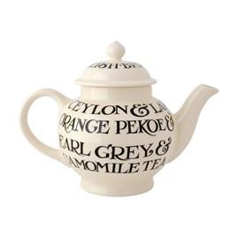 Emma Bridgewater Black Toast All Over 4 Mug Teapot